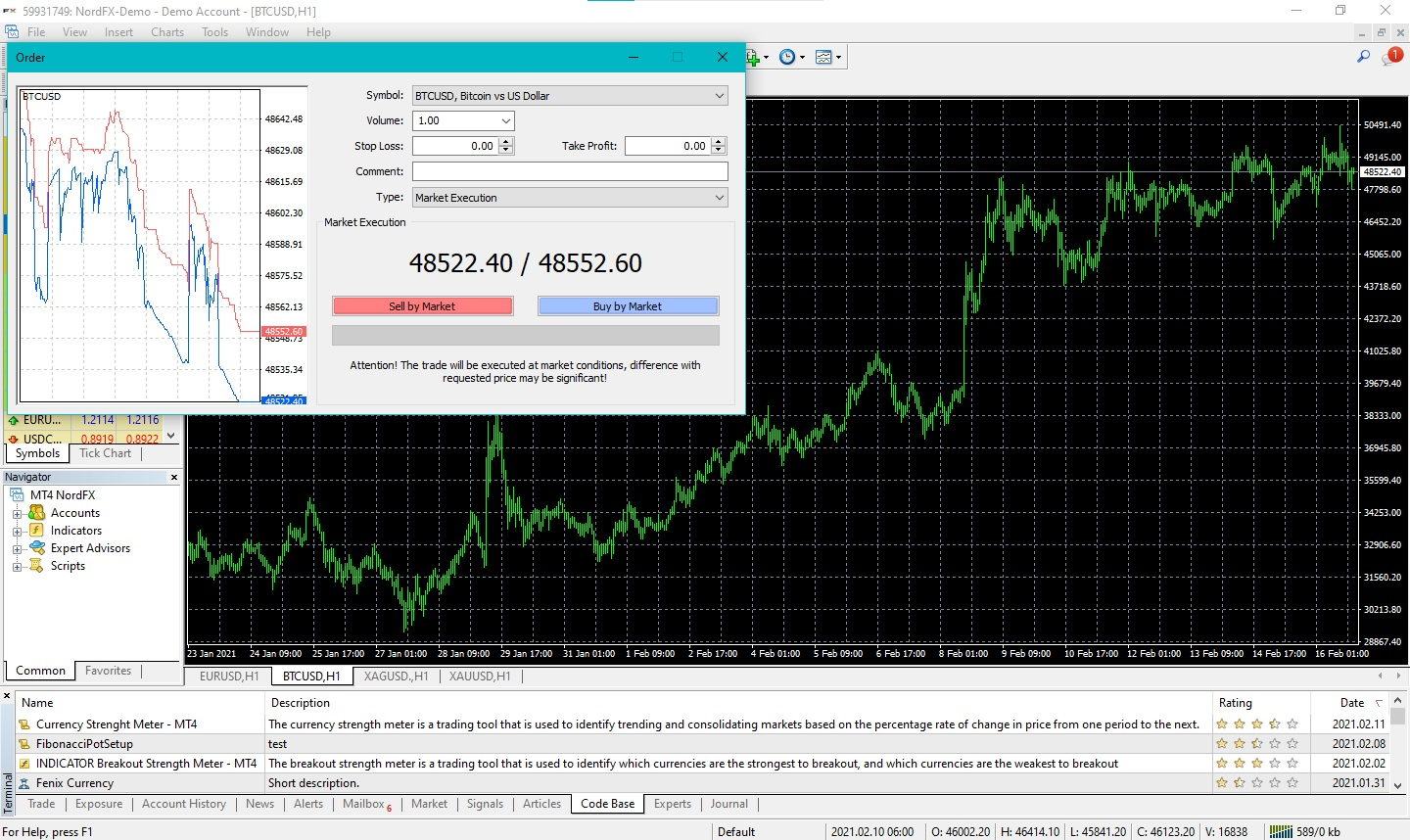 NordFX: How to buy Bitcoin with leverage 3